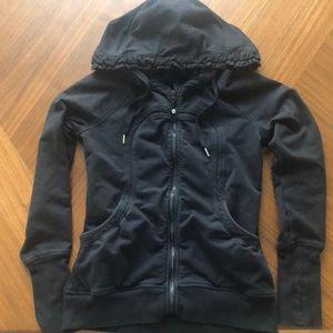 EUC lululemon hoodie with ruffle detail size 8